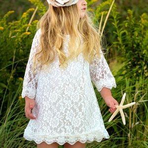 Girls Lace Boho Dress